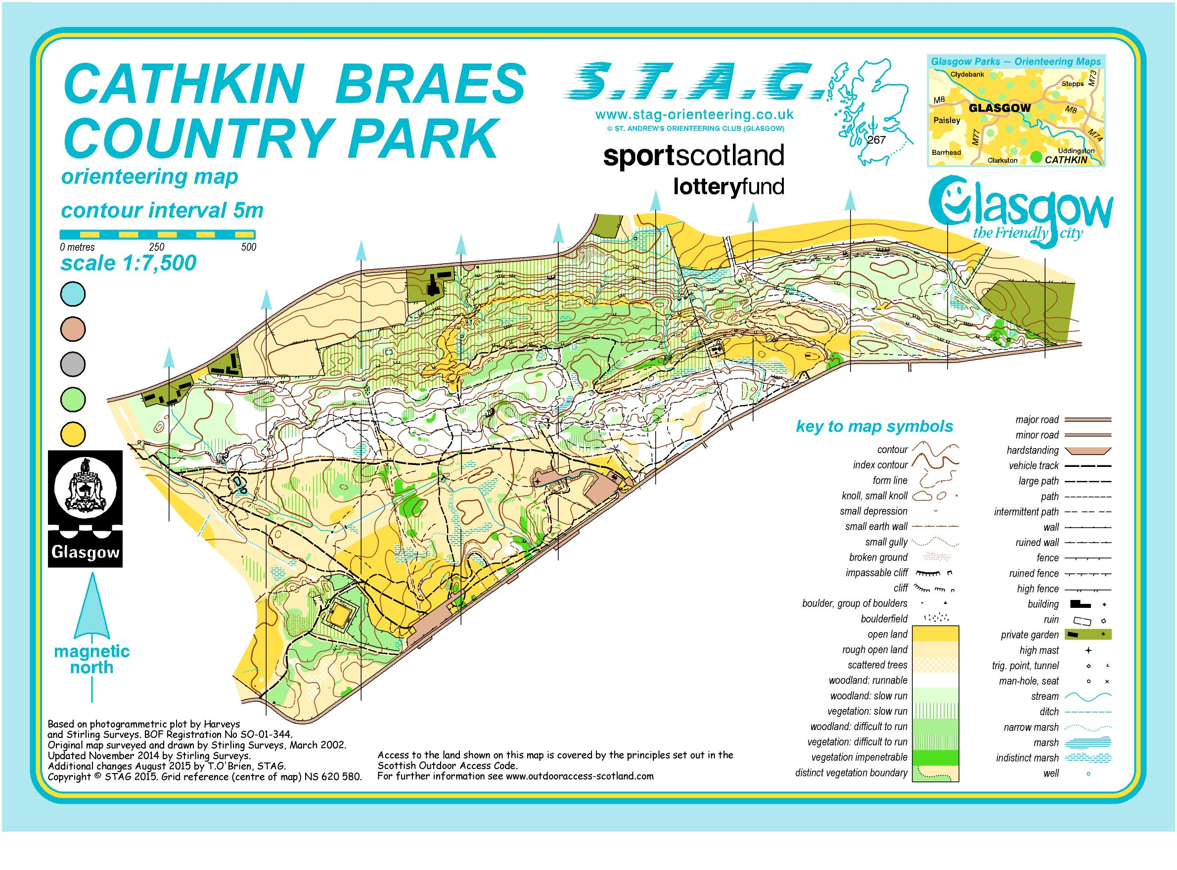 GPC2015 - 1 Cathkin Brae - August 30th 2015 - Orienteering Map from Stag